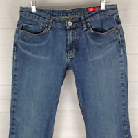 X2 Denim Lab Womens Size 10 Short Stretch Blue Med Wash Mid Rise Bootcut Jeans