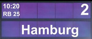 Zugzielanzeiger 2 Stück DB | Bahnsteig | Bahnhof |1:87