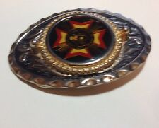 """Vintage VETERANS OF FOREIGN WARS of the United States - Belt Buckle 3 1/4"""" Wide"""