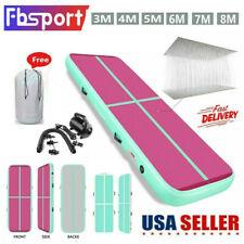 10/13/16/20ft Inflatable Gymnastics Air Mat Track Floor Tumbling Mat Gym w/ Pump