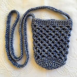 * Water Bottle/Mobile Phone Bag/Carrier/Holder *(600ml) * Blue * Aust Hand Made*