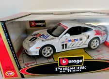BURAGO  PORSCHE 911 TURBO RACING #11 MODEL CAR -SCALE 1/18 DIECAST 33671 BBURAGO
