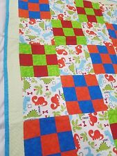 Baby Quilt with Dinosaur Pattern