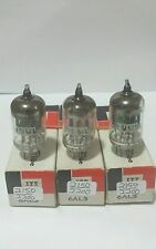 3 Date Matching Itt 6Al5 Vacuum Tubes Tested Good On Calibrated Hickok