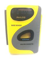 Philco 1000 Am/Fm Radio Stereo Cassette Player w/ Bass Boost Tested Heavy Duty