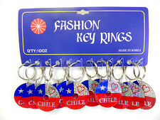 Wholesale Lot of 12 Souvenir Keychains I Love Chile  Sale Cheap Free Shipping