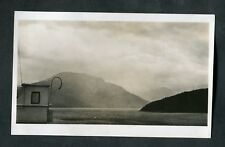C1930s Photo: Norwegian Fjord From Deck of a Ship