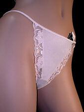 FELINA String Thong Panty DAHLIA Dawn PINK L NWT Lush EMBROIDERY!#3370 Bra avail