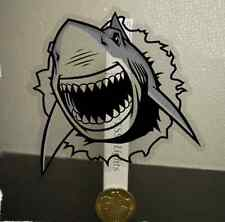 Transparent Scary Shark Sticker Skateboard Guitar Car Bike Guitar Decal Funny