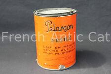 P675 Ancienne boite metal Vintage cylindrique Pelargon Nestle Lait en poudre