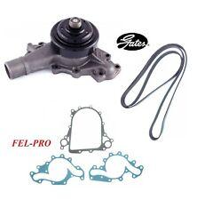 GATES Water Pump & Serpentine Belt & Seal For 2000 CHEVROLET K3500 V8 6.5L