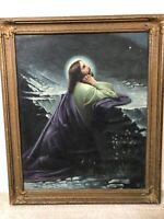 👀 Antique 1800's Old Master Oil Painting of Jesus, Religious - Italian School