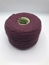 Large 1400 Gram Cone Of Chunky 95% Wool Gimp Yarn In A Rich Grape Shade.