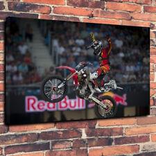 "Red BULL NATE ADAMS Freestyle Motocross STAMPA FOTO SU TELA A1.30""x20"" 30 mm"