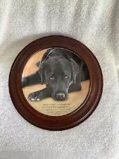 Vtg. Someone to Comfort Black Labrador Dog Plate