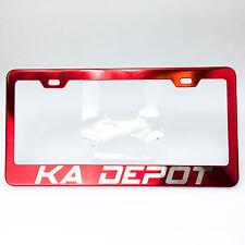 Powder Coated Candy Red Customilze License Plate Laser Engraved Frame KA DEPOT