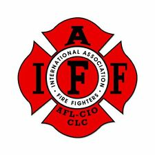 "5"" Firefighter IAFF Fire Fighters Car Sticker Decal"