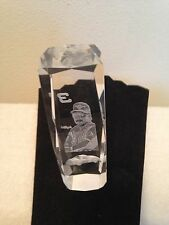 Tall Crystal Type Glass With Dale Earnhardt With Box