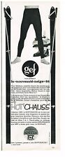 PUBLICITE ADVERTISING  1963   GEF  vetements de ski  l