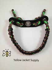 Lost Camo / Hidden Camo Neon Green Paracord Bow Wrist Sling