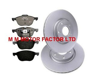 VOLVO S40 MK2 & V50  (04-) TWO FRONT BRAKE DISCS AND BRAKE PADS SET NEW (300MM)