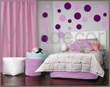 264 POLKA DOTS Wall decal Stickers violet lilac decor