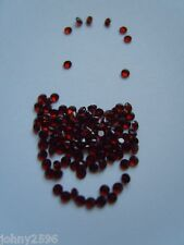 1.5mm round garnet loose gemstone,5 for £1.50p