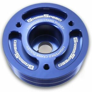 GrimmSpeed Lightweight Crank Pulley Blue for Subaru Impreza WRX Legacy Forester
