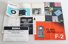 PHOTOGRAPHIC INFO BOOKLETS LOT OF 7 SIGMA/OLYMPUS/NIKON/OTHERS