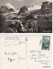 # RIFUGIO FEDAIA VERSO LA MARMOLADA (timbro Rifugio Dantone)  1951