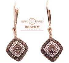 Brandy Diamond® Chocolate Brown 10K Rose Gold Sparkling Dangle Drop Earrings