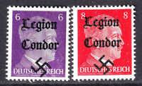 GERMANY 510-511 1944 LEGION CONDOR OVERPRINT OG NH U/M F/VF TO VF BEAUTIFUL GUM