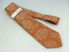 Michael Kors Necktie ~ Salmon Paisley ~ 100% Silk 58 Inch Tie  NWT