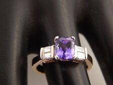 14k YG 2.20 tcw Tanzanite D-Block AAA Diamond Ring E/VS Engagement Top Quality