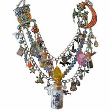 KIRKS FOLLY BUBBLE BUBBLE TOIL & TROUBLE HALLOWEEN POTION NECKLACE FREE SCARF ST