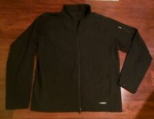 MERRELL Black Softshell Jacket Mens Size Large Weather Resistant Hiking Climbing