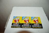 LOT 3 PAQUET GHOSTBUSTER 2  1 STICKERS + 8 CARTE + 1 GUM TOPPS NEUF VINTAGE
