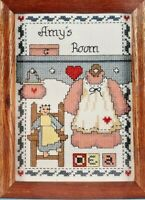 1986 Vintage NIP Paragon Counted Cross Stitch Kit Girls Room 5x7 Picture 8052F