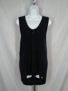 Banana Republic Black Sweater Vest Knit Tunic Size Small High Low Hem New