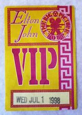TRES RARE PASS VIP CONCERT ELTON JOHN PARIS BERCY 1998 / THE BIG PICTURE TOUR
