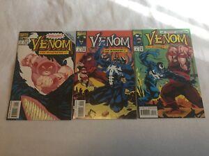 Venom: The Madness #1,2 & #3 (1993, Marvel Comics) High grade.