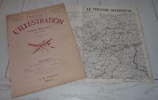 L'ILLUSTRATION 3746 1914 GUERRE 14-18 CARTE JOFFRE FOCH SERBIE BELGIQUE AVIATION