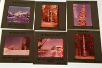 Lot Of 30+ Vintage Color Photo Slides Alaska