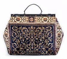 LARGE VICTORIAN-STYLE MARY POPPINS CARPET BAG. NEW