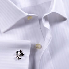 White  Herringbone Business Formal Dress Shirt Stylish With Best Price In Town