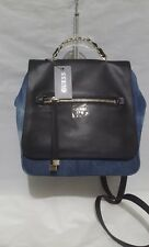 GUESS Sammie Backpack Small Denim Blue Black Handbag Purse Chain Handle NEW