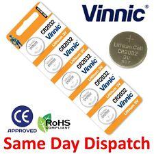 Vinnic al litio 5x 3 V CR2032 0% HG MONETA BATTERIA 2032 DL2032 Pulsante Chiave Auto Cellulare UK