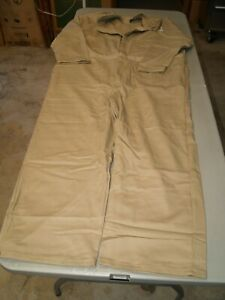 BULWARK Flame Resistant Coveralls SZ 54 (2XL) BEIGE/TAN