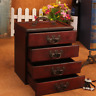 Decorative Trinket Jewelry Storage Chest Vintage Wood Chest Treasure Case Box