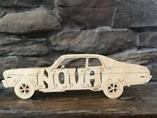 Vintage Chevy Nova New Wooden Puzzle  Amish Made Car Toy 10 Parts